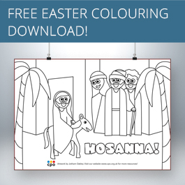 Hosanna Free Colouring Download