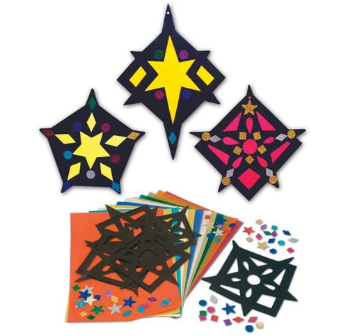 Stained Glass Stars PK30