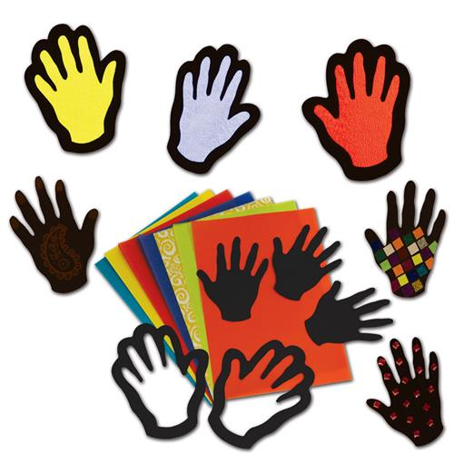 Stained Glass Hands (pk30)