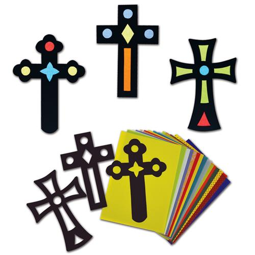 Stained Glass Cross (pk30)