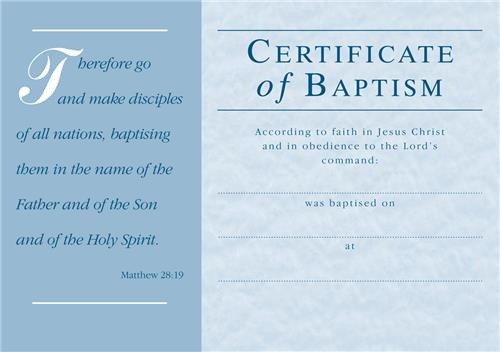C1179ct adult baptism certificate envelope general for Free water baptism certificate template