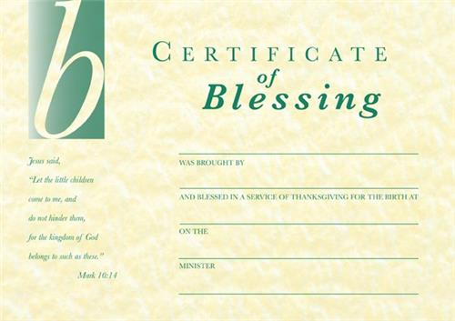 Certificate of Blessing