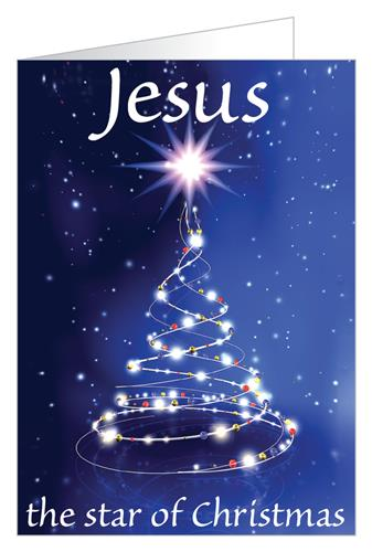 Jesus the star of Christmas (tree)