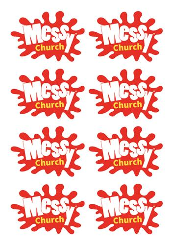 Messy Church - Sticker