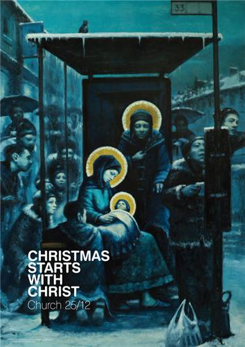 Christmas Starts With Christ (Bus Stop)