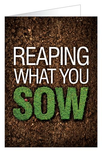 Reaping what you sow - Tract