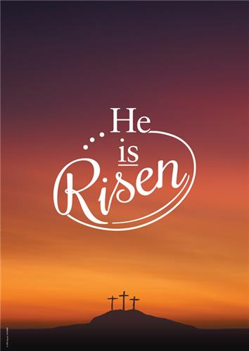 He is risen easter bookmarks cards gifts giveaways product information negle Image collections