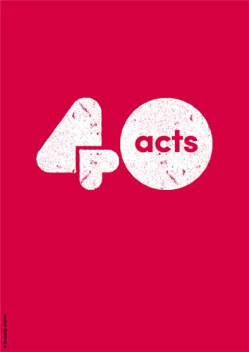 40acts - Customisable Flyer