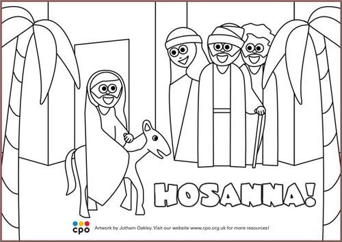 Hosanna - Free Download Colouring-in Sheet