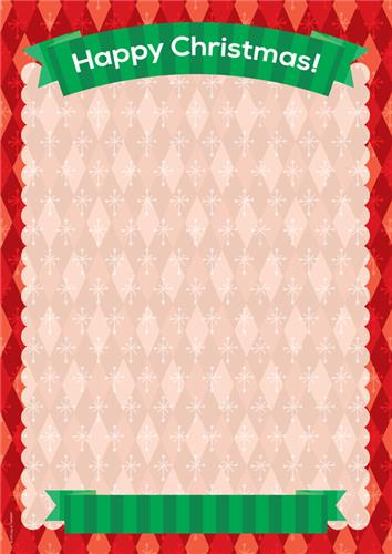 Red Christmas Border