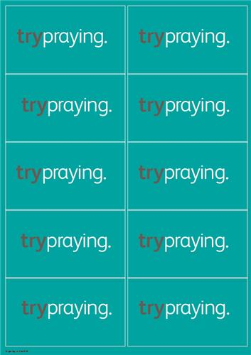 Trypraying - Sticker