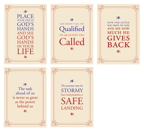 Wise Words Frame (pk5) Poster Pack