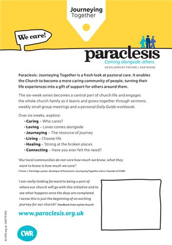 Paraclesis We Care
