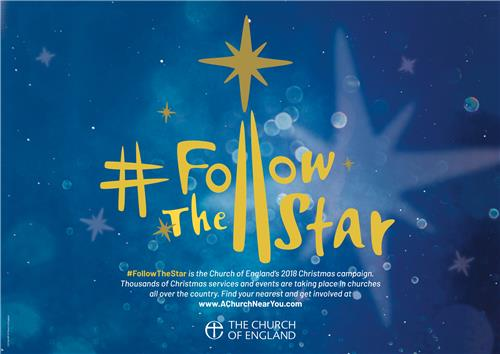 Follow the Star Message Poster