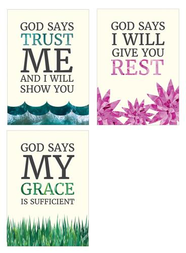 God Says Trust - (pk3) Poster Pack