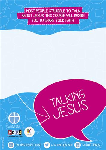 Talking Jesus Customisable Footer Poster