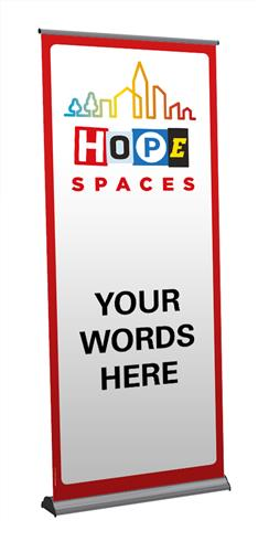 Hope Spaces - Customisable Pull-up Banner
