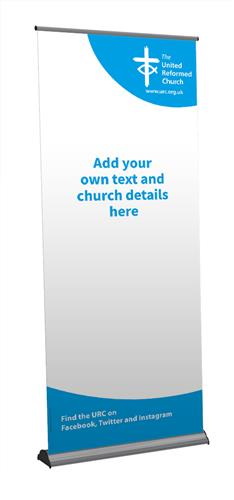 URC White Template - Customisable Roll-Up Banner