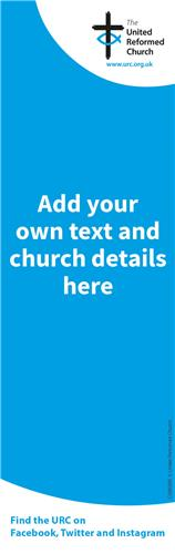 URC Blue Template - Bookmark