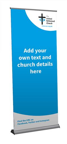 URC Blue Template - Customisable Roll-Up Banner