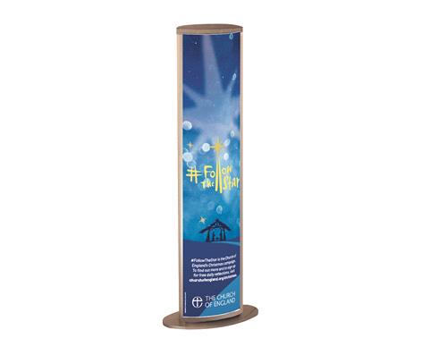 Follow The Star - Illuminated Message Banner Stand and Graphic
