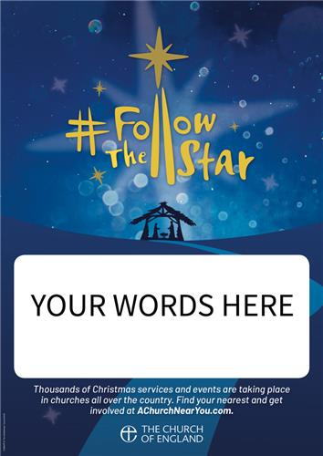 Follow The Star - Customisable Poster