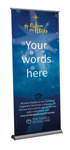 Follow The Star - Customisable Roll-Up Banner