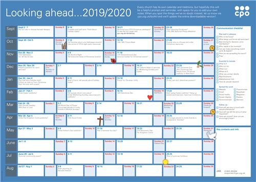 CPO Wall Planner 2019-2020 - Free Download