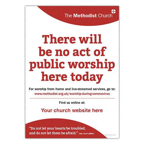 No act of worship Poster (Methodist)