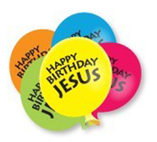 Happy Birthday Jesus Balloons (PK10)