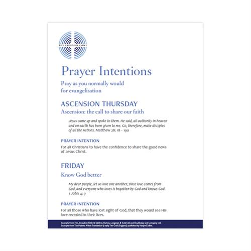 Prayer Card Sample Pack Of 50