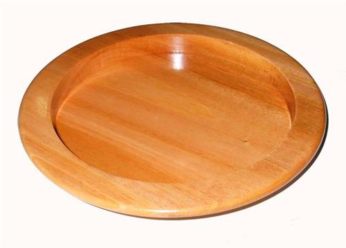 Wooden Bread Plate (Natural) - 9""
