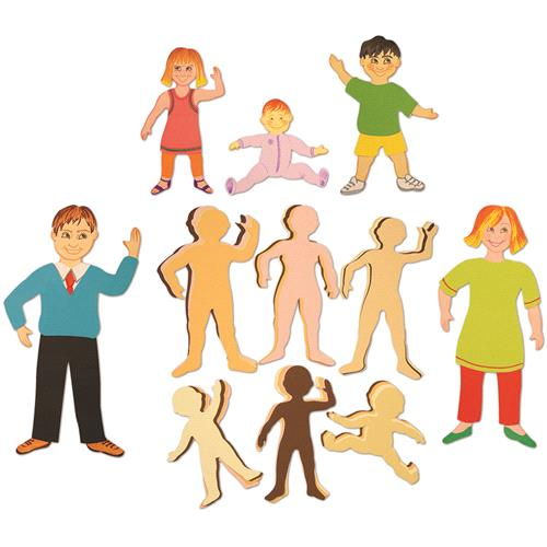 My Family & Friends - Card People Shapes PK72