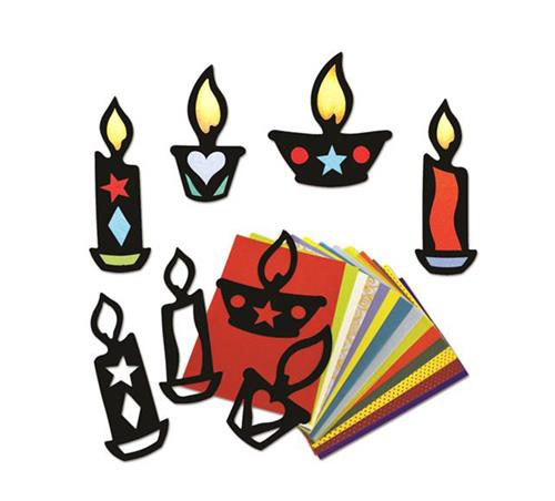 Stained Glass Candles PK32