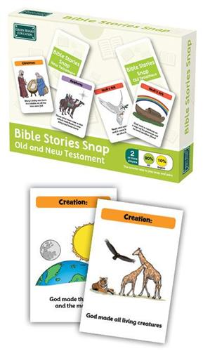 Old & New Testament Bible Stories Snap Cards