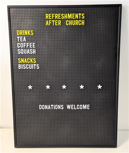 Large Peg Letter Board