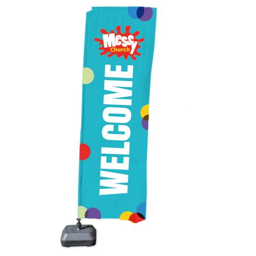 Messy Church Welcome Flag - Teal