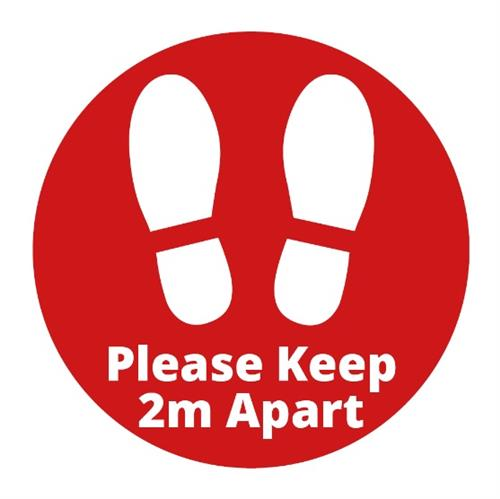 2m Spacing Indoor Floor Sticker (300mm)