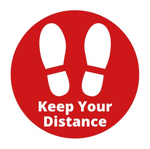 Keep Your Distance Floor Sticker (300mm)