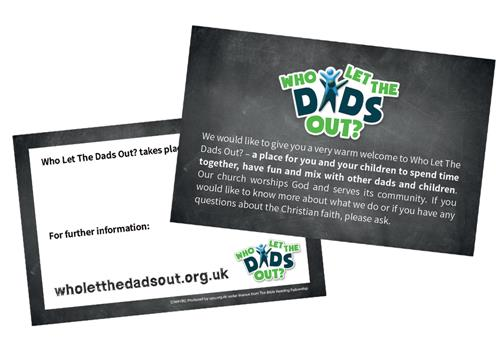 Who Let The Dads Out? - Business Card