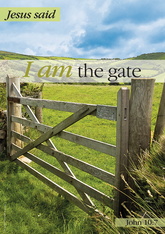 C2848MP - I Am: The Gate Message Poster : Portrait Posters with a ...